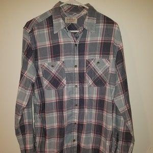 Men's plaid button up shirt